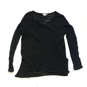 Helmut Lang Sweater P Small Black Stripe Knit